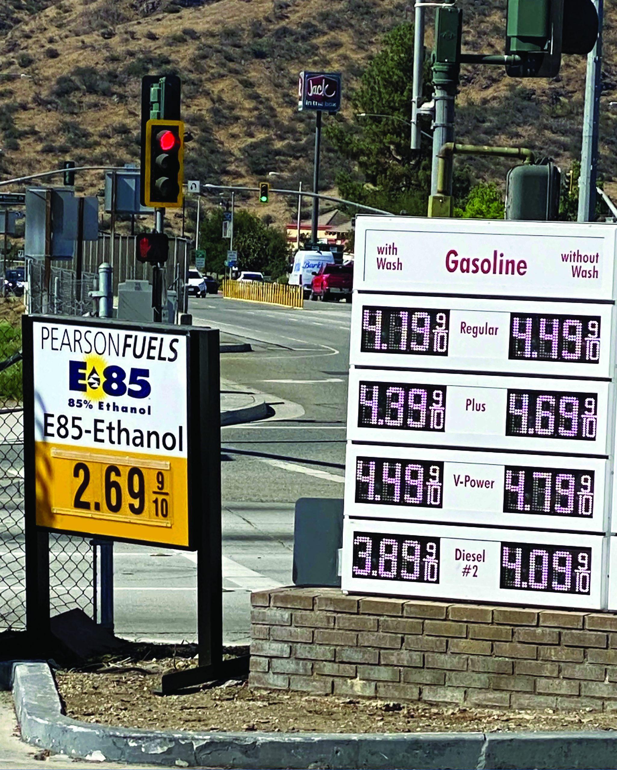E85 Gas Prices in CA